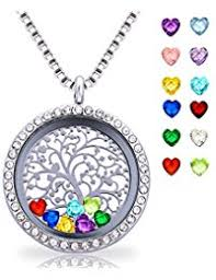 s day necklace with birthstone charms jewelry boys clothing shoes jewelry