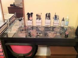 glass top vanity table furniture exciting beautiful glass makeup table glass dressing