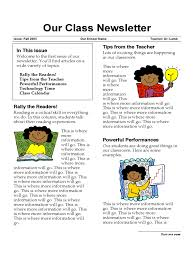 classroom newsletter template 3 free templates in pdf word