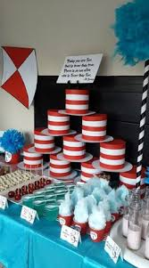 Cat In The Hat Table Centerpieces by Dr Seuss Cat In The Hat Party Aidens 1st Birthday Pinterest