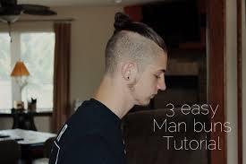man bun top knot tutorial youtube