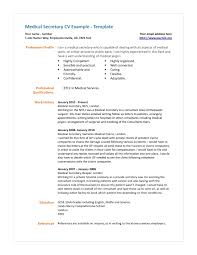 Resume Templates Medical by Medical Secretary Resume Template Medical Secretary Resume