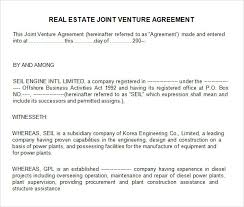 best photos of simple joint venture agreement template sample