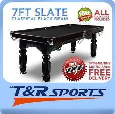 7ft pool table for sale black slate pool table