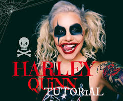 harley quinn halloween look makeup tutorial youtube