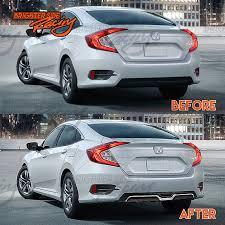 jdm cars honda made for 2016 17 honda civic sedan jdm rear bumper diffuser carbon