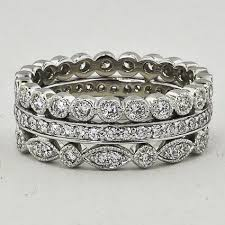 stackable diamond rings luxe antique eternity diamond ring stack 1 ct tw in 18k white