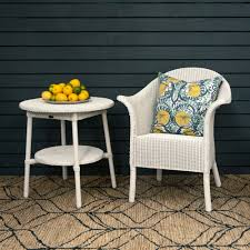 buy lloyd loom classic coffee table round snow white genuine