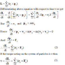 angular momentum and torque of the system of particles