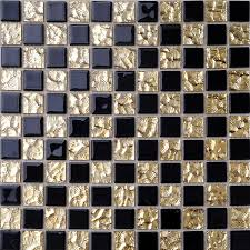 glass mosaic tiles for bathroom home improvement mirror black gold
