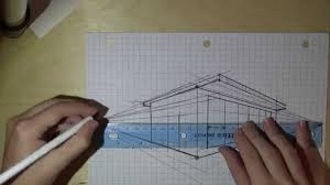 How To Draw Floor Plans For A House How To Draw A House In 2 Point Perspective Youtube