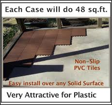 Patio Deck Tiles Rubber by Amazon Com Box Of 48 Tiles Each Easylink Deck Tile Is 12