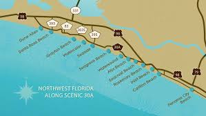 Map Of 30a Florida 30a Sea Story