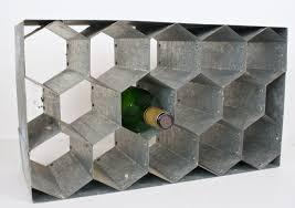 metal honeycomb wine rack
