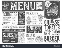 burger food menu restaurant cafe design stock vector 722292856