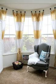 Kitchen Bay Window Curtains by Curtains Bay Window Curtain Ideas Designs How To Solve The Curtain