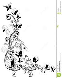 flower and butterfly design comousar