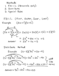 Multiply Polynomials Worksheet Multiplying Polynomials Lessons Tes Teach