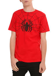 spirit halloween spiderman marvel spider man classic logo web t shirt topic