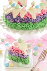 Buy Easter Cake Decorations by Easter Rice Krispie Cake U2013 The Novice Chef