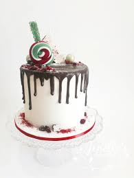 Christmas Cake Decorations Sydney by Christmas Drip Cakewhite Glaze Drip Over Red Buttercream Cake