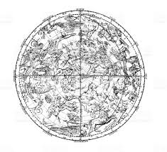 Constellations Map 19th Century Map Of The Constellations In Northern Hemisphere
