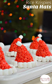 rice krispie treats for thanksgiving santa hat rice krispies treats for a fun and simple christmas treat