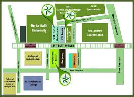 La Salle Campus Map De La Salle University Egi Taft Tower Location Map