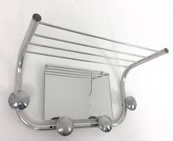 50s french tubular steel coat rack u0026 mirror 67817