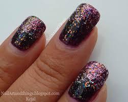 nailart and things classy glitter gradient nail art