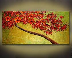 5 piece canvas wall art hand painted palette knife oil unframed thick textured modern hand painted palette knife oil