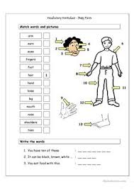 832 free esl body parts worksheets