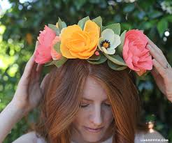 flower hairband diy crepe paper flower headband lia griffith