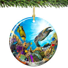 great barrier reef ornament porcelain