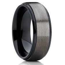 gunmetal wedding band black cobalt ring cobalt chrome ring gunmetal cobalt wedding