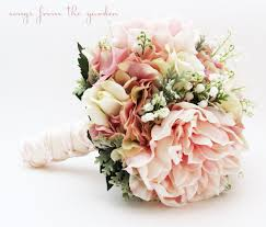 bouquet of lilies bridal bouquet of the valley peonies roses hydrangea pink