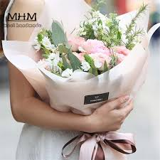 wrapping paper sale 10pc l hot sale fashion mist bouquets flowers packaging materials
