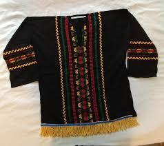 hebrew garments for sale hebrew israelite embroidered shirt w gold fringes sleeved