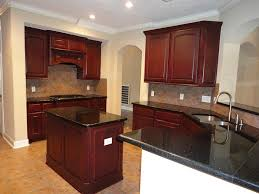 awesome kitchen island black granite with cherry paint color also