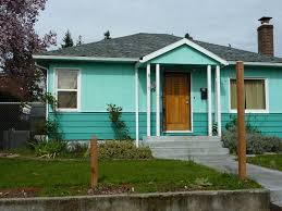 divine blue color for exterior house paint ideas with grey roof
