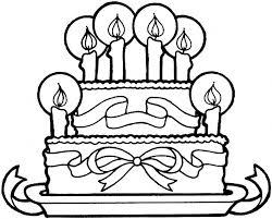birthday cake coloring page printable related keywords