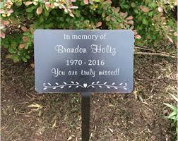 outdoor memorial plaques memorial plaque etsy