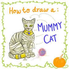 Halloween Pictures To Draw Improper Books Halloween U2013 How To Draw U2026 A Mummy Cat