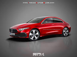 mercedes a class sedan rendered in production form