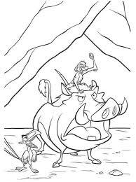 timon pumbaa zazu lion king coloring animal