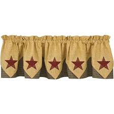 Country Style Curtains And Valances Country Lined Point Valance American Country Style Curtains