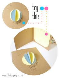 fabric paper glue try this air balloon baby shower invitations