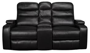 home theater loveseat robert 3 piece dual power leather match reclining loveseat