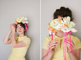 headband flowers painted paper flower headbands diy
