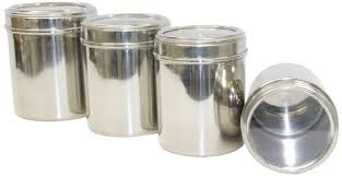 stainless steel canister sets kitchen tabakh 4 stainless steel container store canister set